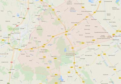 De gemeente Aa en Hunze (het roze geaccentueerde gebied op de kaart) is in 1998 ontstaan uit samenvoeging van de gemeenten Anloo, Gasselte, Gieten en Rolde. Een uitgestrekte gemeente, gelegen tussen Assen in het W en de provincie Groningen in het O.