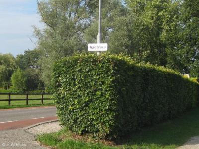 De toenmalige gemeente Schoorl heeft bij de buurtschappen in het dorpsgebied van Schoorl, en formeel ook gelegen binnen de bebouwde kom daarvan, zeer bescheiden witte plaatsnaambordjes geplaatst. Aagtdorp is er daar een van.
