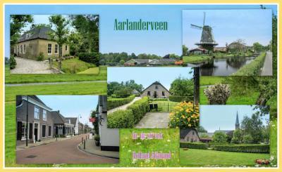 Aarlanderveen, collage van dorpsgezichten (© Jan Dijkstra, Houten)