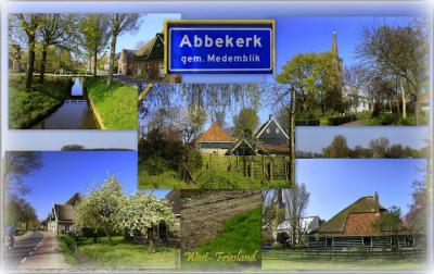 Abbekerk, collage van dorpsgezichten (© Jan Dijkstra, Houten)