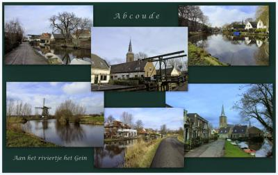 Een deel van Abcoude ligt idyllisch aan het meanderende riviertje het Gein (© Jan Dijkstra, Houten)