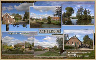 Door de kilometerslange buurtschap Achterdijk bij Nieuwland moet je sowieso niet te snel rijden omdat het een landelijk woongebied is, maar ook omdat er nog veel mooie oude boerderijen en woonhuizen te zien zijn. (© Jan Dijkstra, Houten)