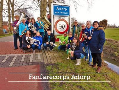 Fanfarecorps Adorp heeft in 2016 het 90-jarig bestaan gevierd en heeft zich tegelijkertijd omgevormd naar Muziekvereniging Adorp. (© www.adorp.com/fanfare)