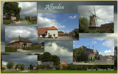 Afferden, collage van dorpsgezichten (© Jan Dijkstra, Houten)