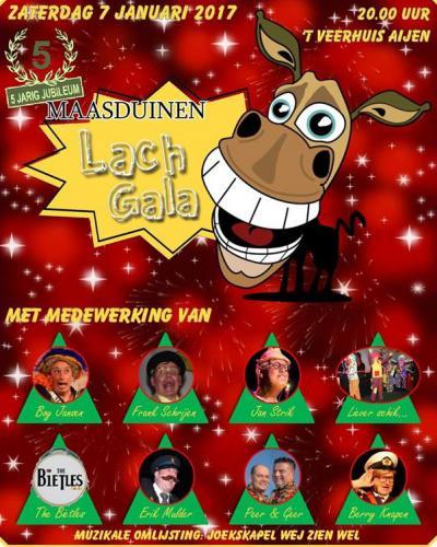Op een zaterdag begin januari is er in Aijen het jaarlijkse Maasduinen Lachgala, met optredens van een vijftal buutkampioenen, live bands en artiesten, en een joekskapel.