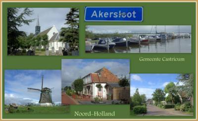 Akersloot, collage van dorpsgezichten (© Jan Dijkstra, Houten)