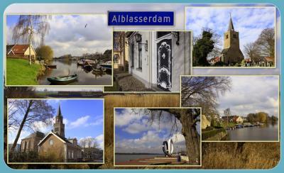 Alblasserdam, collage van dorpsgezichten (© Jan Dijkstra, Houten)