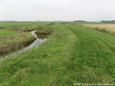 De puinweg Nijlânswei, in de buurtschap Ald Terp, gaat al snel over in een graspad, waarover je naar de N358 of naar de buurtschap Nijlân kunt lopen.