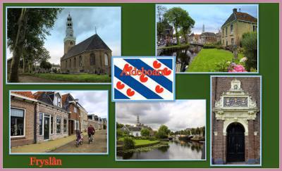 Aldeboarn, collage van dorpsgezichten (© Jan Dijkstra, Houten)