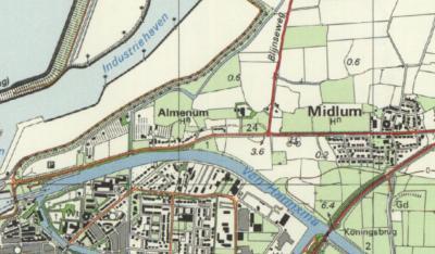 Van de jaren zeventig tot de jaren negentig heeft de plaatsnaam Almenum bij de huidige gelijknamige buurtschap op kaarten gestaan. Deze plaatsnaam is onterecht van de kaarten verdwenen; immers de buurtschap bestaat nog altijd en daarmee de plaatsnaam ook.
