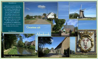Almkerk, collage van dorpsgezichten (© Jan Dijkstra, Houten)