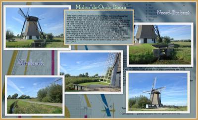 Almkerk, collage van Molen De Oude Doorn (© Jan Dijkstra, Houten)