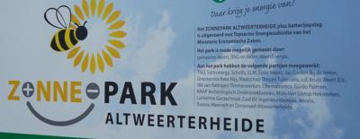 In 2019 is Zonnepark Altweerterheide gereedgekomen, gerealiseerd door WeertEnergie. De in totaal ca. 6.000 zonnepanelen leveren stroom voor ca. 500 huishoudens.