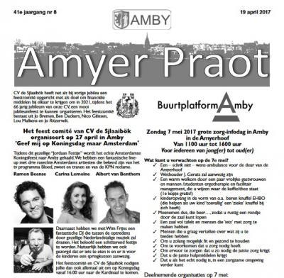 'Dorp in de stad' Amby in/bij Maastricht heeft een rijk verenigingsleven, met tientallen verenigingen die de identiteit en het dorpsleven van deze kern in stand houden. Ze hebben zelfs een prachtige eigen tweewekelijkse dorpskrant: de Amyer Praot.
