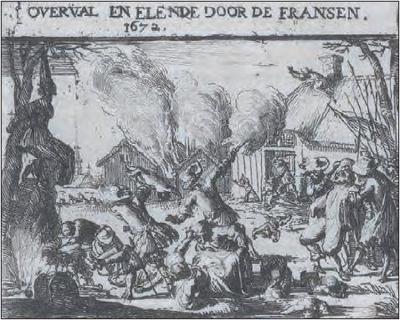 In 1672 is Ameide door de Fransen geplunderd en zijn vele panden afgebrand. Voor nadere informatie zie het hoofdstuk Geschiedenis.
