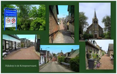 Ammerstol, collage van dorpsgezichten (© Jan Dijkstra, Houten)