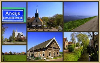 Andijk, collage van dorpsgezichten (© Jan Dijkstra, Houten)