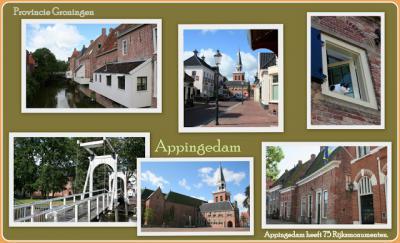 Appingedam, collage van stadsgezichten (© Jan Dijkstra, Houten)