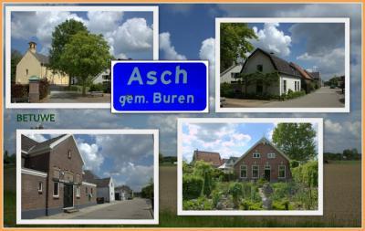 Asch, collage van dorpsgezichten (© Jan Dijkstra, Houten)