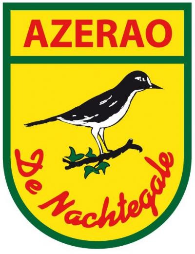 Wat heeft dit nu weer te betekenen? Wel, het dorp Asenray heet in het Limburgs Azerao, en de lokale carnavalsvereniging heet V.V. De Nachtegale. Elders betekent V.V. meestal 'voetbalvereniging', maar in Limburg betekent dat 'vastelaovesverein'. Vandaar...