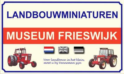 Heb je iets met landbouwmachines? Frank Venneman uit Frieswijk heeft 1.300 prachtige miniatuurtrekkers en -landbouwmachines verzameld in zijn Landbouwminiaturenmuseum. Wellicht een extra reden om de idyllische buurtschap Frieswijk eens te bezoeken.