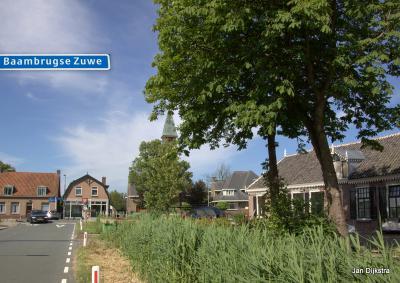 Aan het begin van Baambrugse Zuwe bij de Herenweg in Vinkeveen