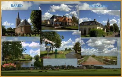Collage van het bezienswaardige dorpje Baard (© Jan Dijkstra, Houten)