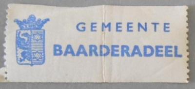 Sluitzegel van de voormalige gemeente Baarderadeel.
