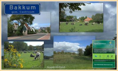 Bakkum, collage van dorpsgezichten (© Jan Dijkstra, Houten)
