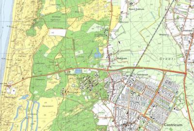 Sinds de jaren zestig is Castricum fors gegroeid, is het huidige dorp Bakkum uit de grond gestampt; op de kaarten heet het oude dorp Bakkum weer 'gewoon' Bakkum en het 'nieuwe' dorp Bakkum blijft tot in de jaren tachtig, op de kaarten althans, naamloos.