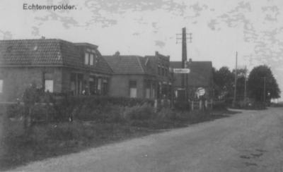 Bantega, Middenweg, de spelling van de toenmalige plaatsnaam luidt hier Echtenerpolder.