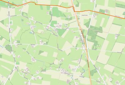 Buurtschap Barlo omvat een groot buitengebied N van het dorp Aalten, in het N grenzend aan de gemeente Oost Gelre, met een compacte kern rond de Markerinkdijk. (© www.openstreetmap.org)
