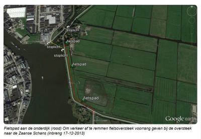 En dit is het voorstel van Liberaal Wormerland voor een herinrichting en daarmee beoogde verbetering van de verkeerssituatie in en bij buurtschap Bartelsluis d.d. 17-12-2013.