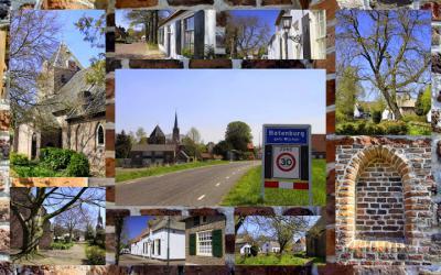 Batenburg, collage van stadsgezichten. (© Jan Dijkstra, Houten)