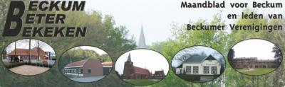 Het kleine dorp Beckum heeft, dankzij de inzet van veel vrijwilligers, relatief veel voorzieningen. Een van die mooie voorzieningen is het inhoudelijk rijk gevulde, maar ook prachtig uitgevoerde maandblad Beckum Beter Bekeken.