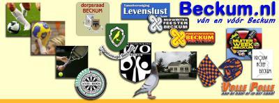 Fraaie collage waarop het rijke verenigingsleven van Beckum gebroederlijk bij elkaar staat