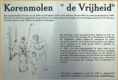 Beesd, alles over korenmolen De Vrijheid