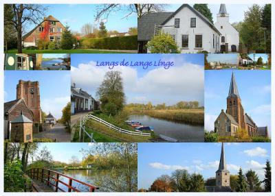 Collage van landschappen aan de Linge in en rond Beesd (© Jan Dijkstra, Houten)