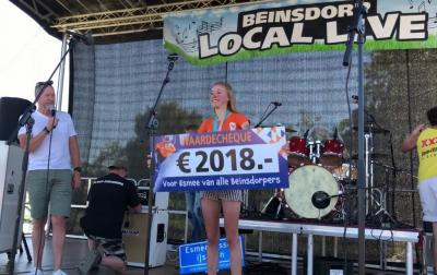 Als eerbetoon aan inwoonster en schaatskampioene Esmee Visser is de ijsbaan van Beinsdorp tijdens Beinsdorp Local Live 2018 omgedoopt tot Esmee Visser IJsbaan, én heeft Esmee een door de inwoners ingezamelde cheque van 2.018 euro gekregen.
