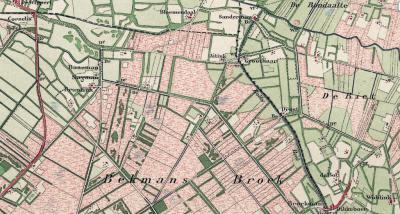 Bekmansbroek en 't Veller waren oorspronkelijk 'veldnamen' voor de 'woeste gronden', zoals dat vroeger heette, in de NO uithoek van het grondgebied van Laren. Natuur vond men rond 1900 maar niets. Die moest ontgonnen worden tot vruchtbaar landbouwgebied!