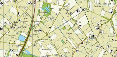 En zo geschiedde: 100 jaar later is het in Bekmansbroek/'t Veller een stuk drukker op de kaart, met veel landbouwbedrijven. Maar het is nog altijd een idyllisch landelijk gebied, met o.a. een bosrijk gebied, waarin een prachtige 400-meterijsbaan.