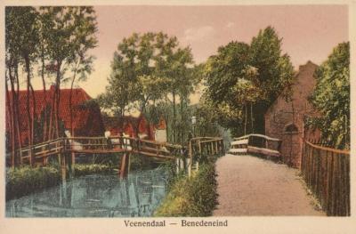 Het Utrechtse deel van de buurtschap Benedeneind is een van de schaarse stukken grondgebied van de gemeente Veenendaal die tot heden landelijk zijn gebleven. Hoewel het er niet helemaal meer zo uitziet als op deze kaart uit begin 20e eeuw.