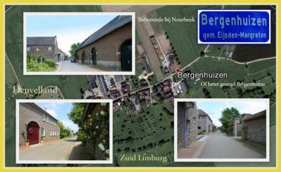 Bergenhuizen, collage van buurtschapsgezichten (© Jan Dijkstra, Houten)