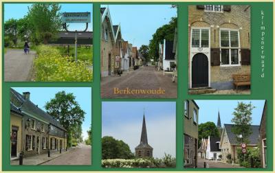 Berkenwoude, collage van dorpsgezichten (© Jan Dijkstra, Houten)