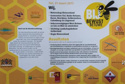 De bijenstand gaat al jaren achteruit; zeker in fruitregio Betuwe is het van belang dat dit tij wordt gekeerd. Vandaar het convenant Bij Bewust Betuwe, waarin partijen verklaren zich te zullen inzetten voor het verbeteren van de condities voor de bijen.