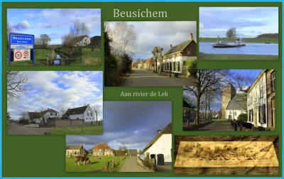 Beusichem, collage van dorpsgezichten (© Jan Dijkstra, Houten)