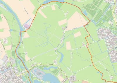 Buurtschap Biert omvat best een groot grondgebied (= Polder Biert, = het NW deel van het dorpsgebied van Simonshaven), met zeer bescheiden bebouwing aan de Biertsedijk en de Dorpsweg. (© OpenStreetMap)