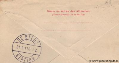 Vóór 1917 heette Bilthoven nog De Bildt-Station