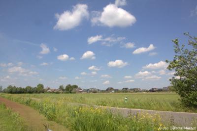Hier vanuit Stolwijk het uitzicht op buurtschap Bilwijk iets dichterbij