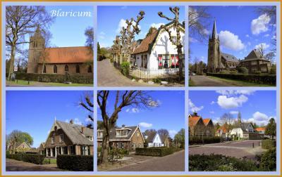Blaricum, collage van dorpsgezichten (© Jan Dijkstra, Houten)
